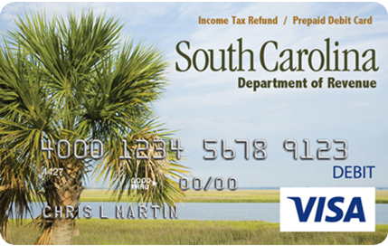 South Carolina Income Tax Refund Prepaid Debit Card